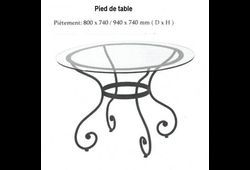 Pied de table Sabina